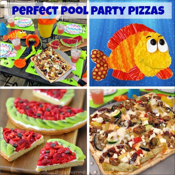 swimming pool party menu template