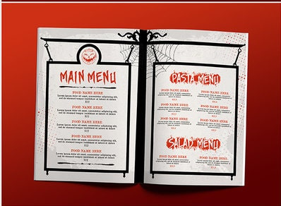 formal holiday party menu design