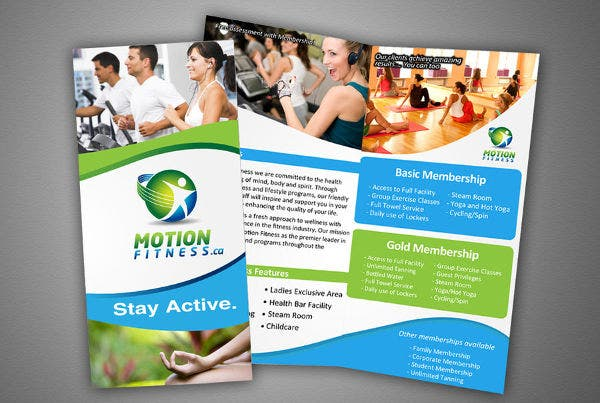 9+ Corporate Fitness Brochures - Editable Psd, Ai, Vector Eps