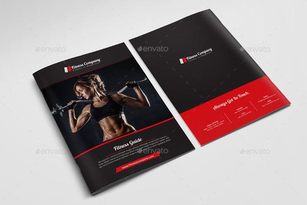Corporate Fitness Brochure Template