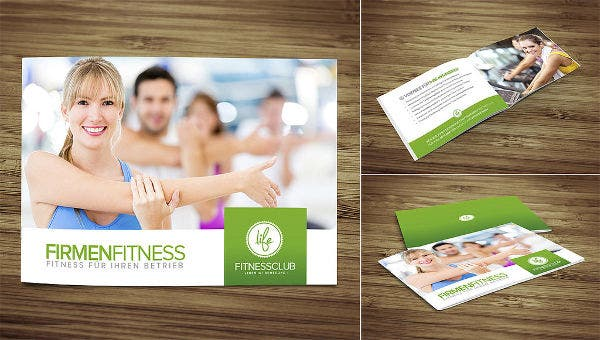 Corporate Female Fitness Brochure
