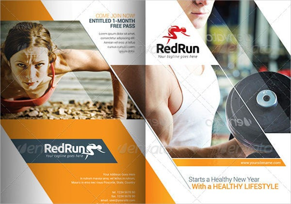 Corporate Fitness Brochures  Editable Psd Ai Vector Eps Format