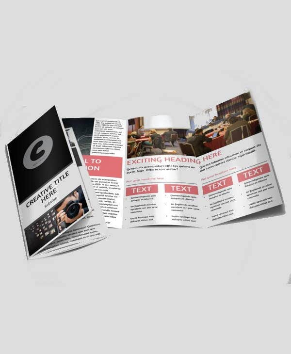 event photography company brochure