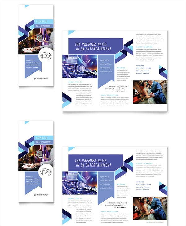 music event company brochure