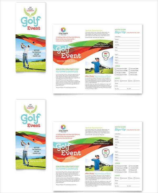 golf event company brochure