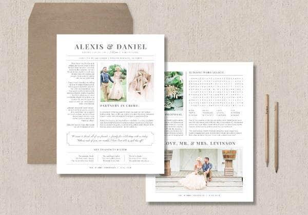 wedding-program-newspaper-template