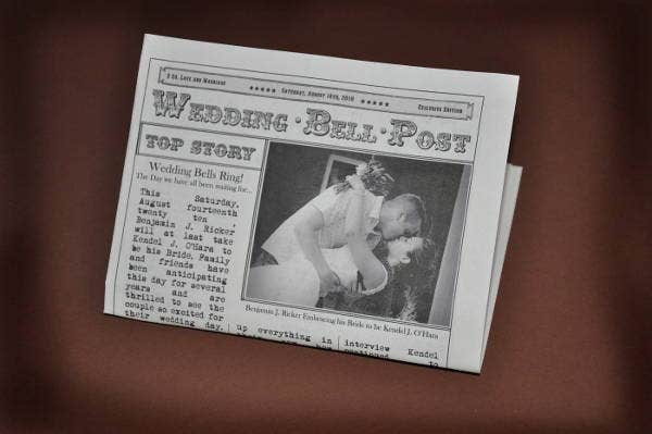 mini newspaper wedding template