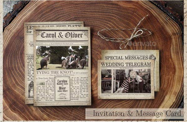 old wedding newspaper template