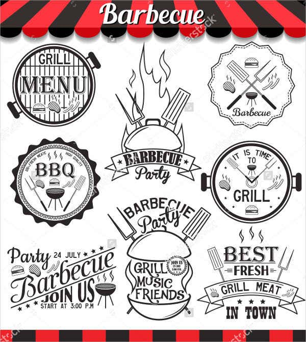 Family BBQ Restaurant Menu Design