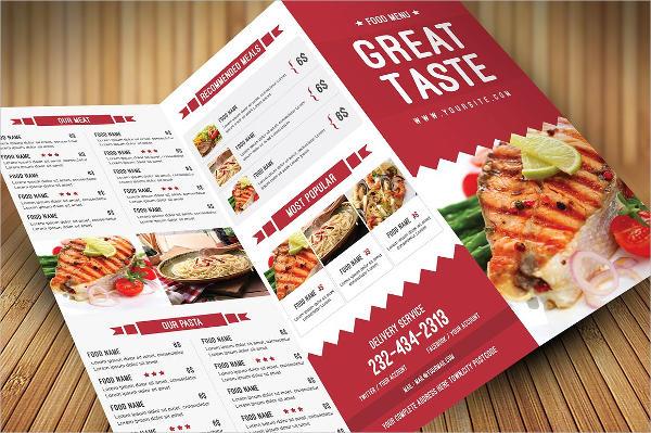 family restaurant catering menu template