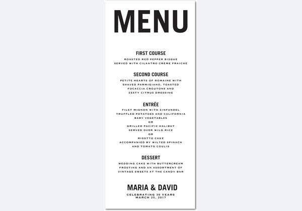 Party Menu Templates - Neptun