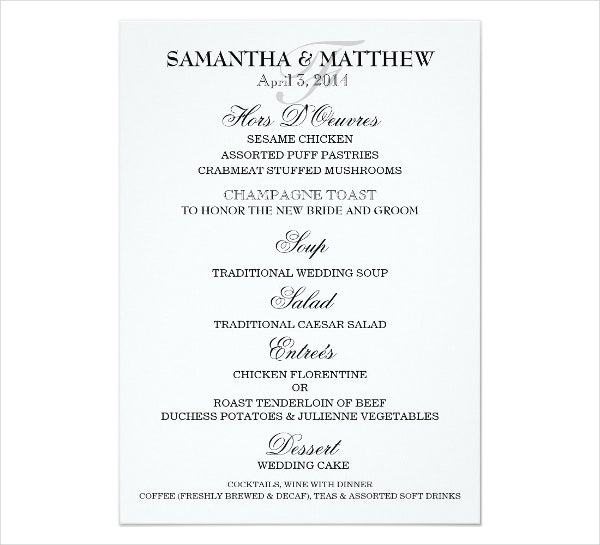 Engagement Party Menu Templates  Designs Templates  Free