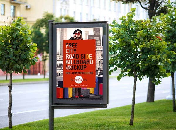 advertising display billboard mockup