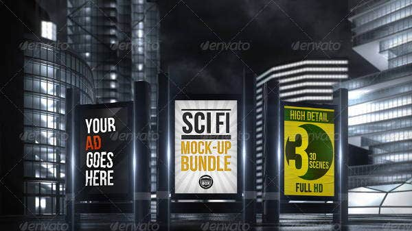 digital advertising billboard mockup
