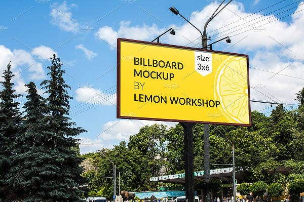 creative advertising billboard mockup