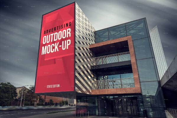 outdoor media billboard mockup