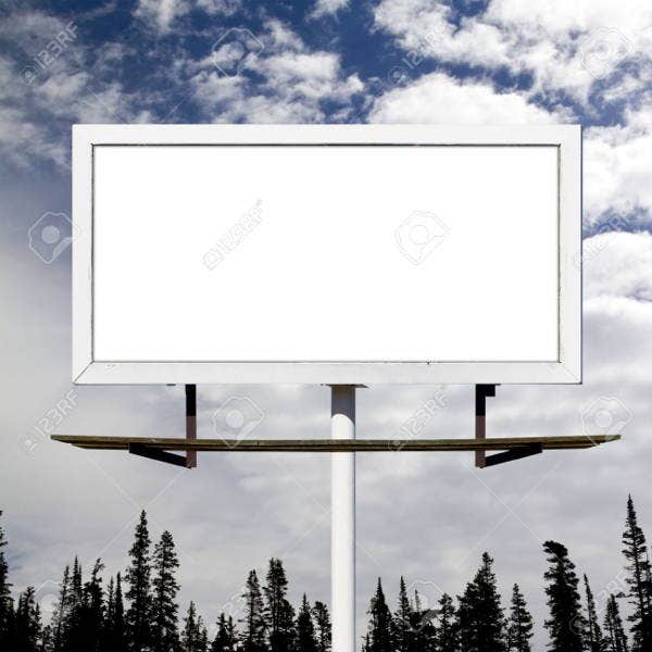 blank outdoor billboard mockup