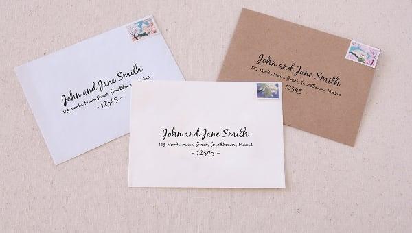 address envelope template