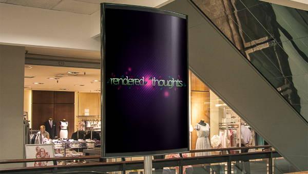 indoor billboard mockup