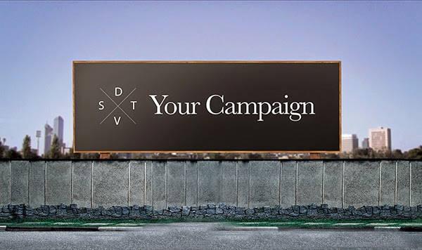free psd horizontal billboard mockup