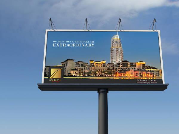 free horizontal billboard mockup