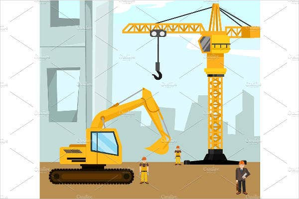 construction building banner template