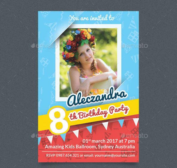 birthday photo invitation card