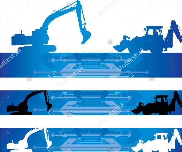 abstract construction banner design
