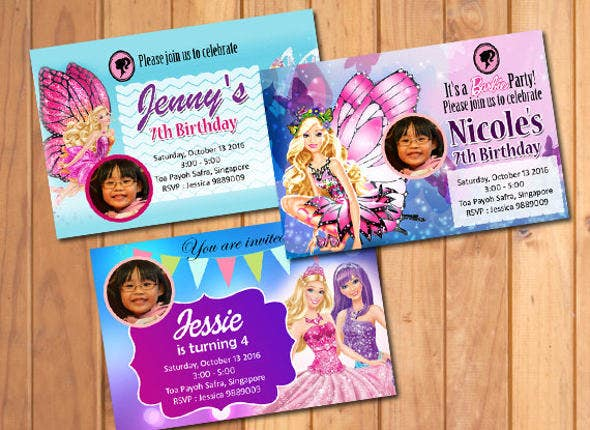 barbie-birthday-invitation-card