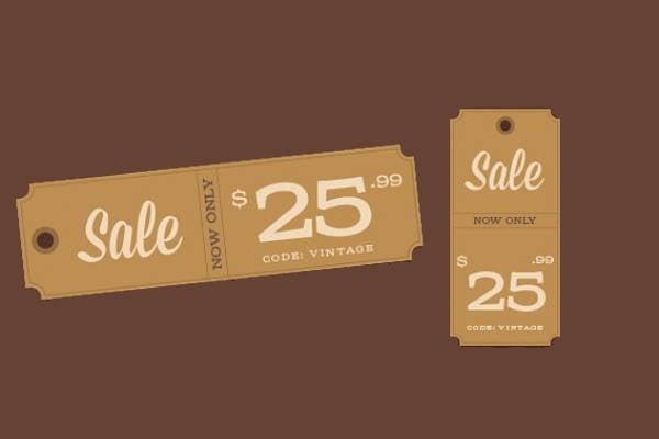 vintage sale tag design