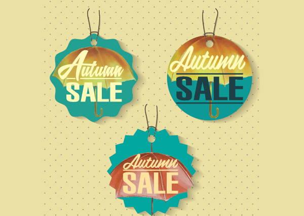 autumn sale tag template