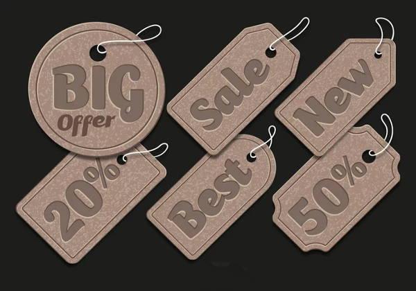 cardboard sale tag design
