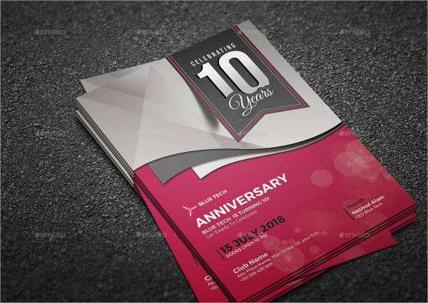 6 anniversary invitation cards editable psd ai vector eps business anniversary invitation card stopboris Image collections
