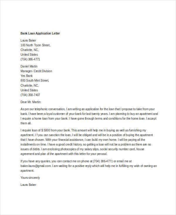 Personal Banker Cover Letter: Application Letter To A Bank