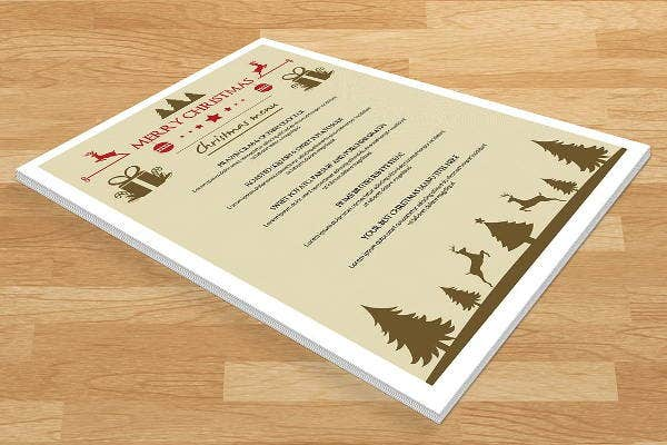 childrens christmas party menu template