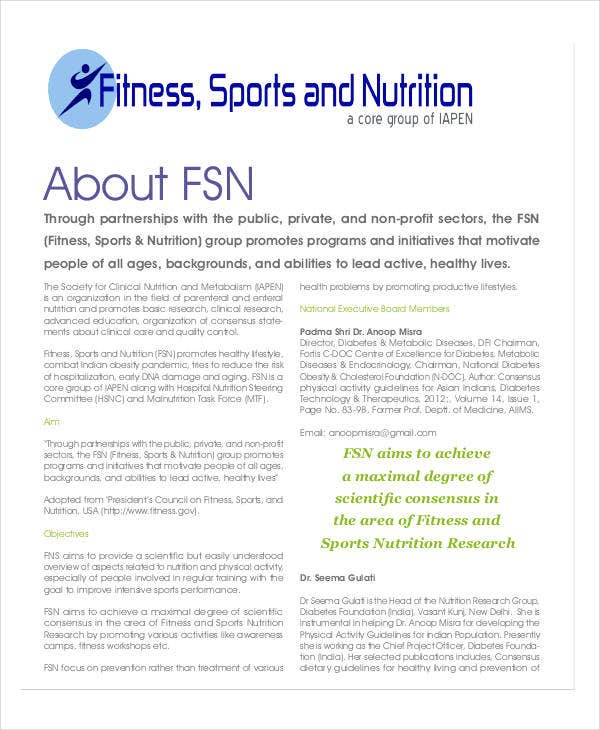 fitness training company certificate in nutrition