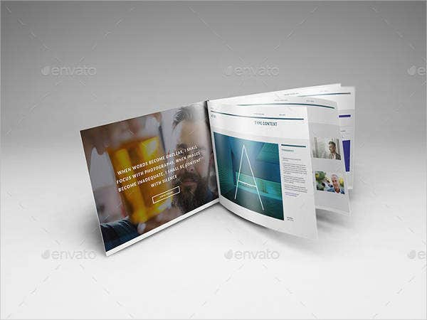 9 landscape brochure mock ups printable psd ai indesign vector