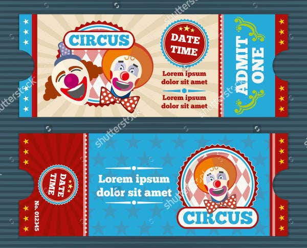 circus entry ticket template