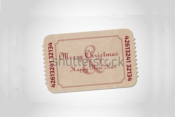 christmas entry ticket template
