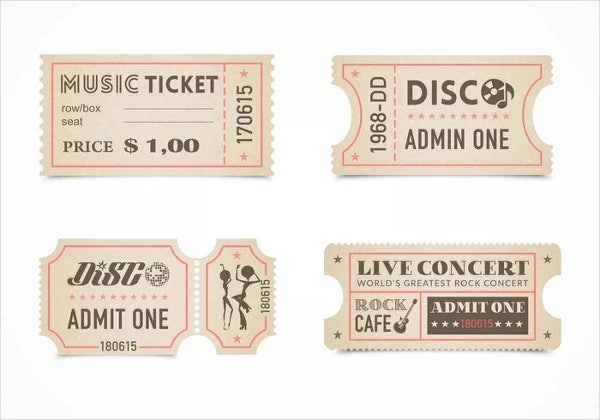 Free Printable Entry Ticket Template  Entry Ticket Template