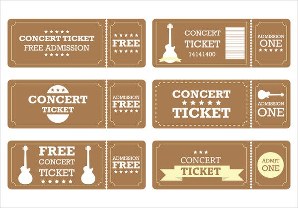 Drawing Entry Ticket Template  Concert Ticket Layout