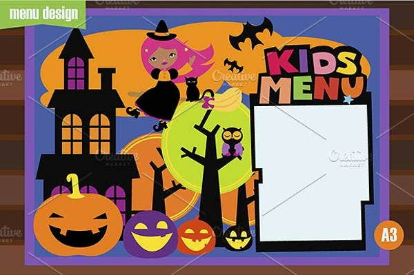 childrens-halloween-party-menu-template