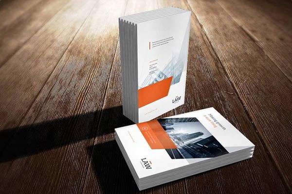 a4 brochure cover mockup