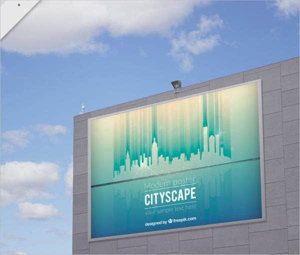 city billboard outdoor poster mockup