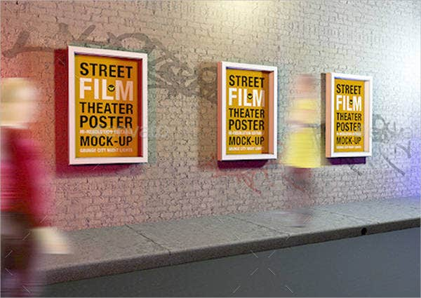 outdoor theatre advertising poster mockup