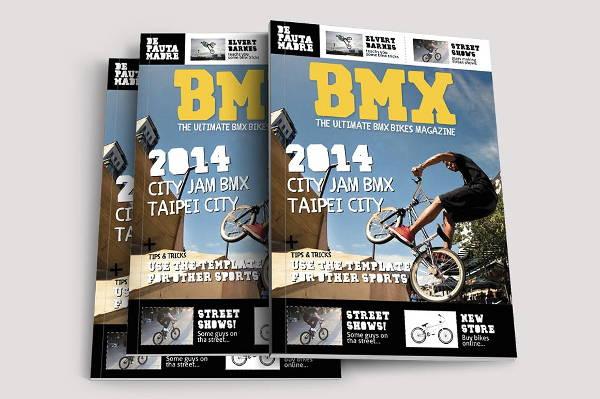 bikes sports magazine template