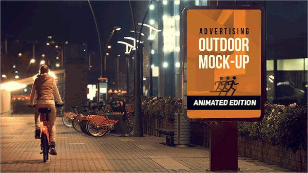 outdoor advertising animated poster mockup