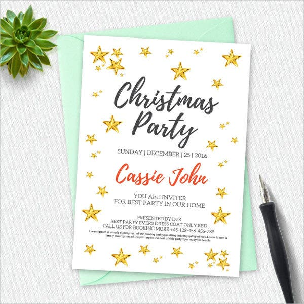 christmas dinner invitation card