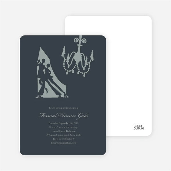dinner dance invitation card