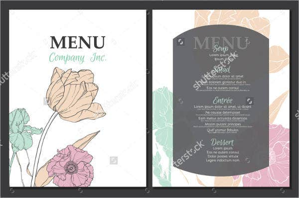 9 garden party menu designs templates free premium templates